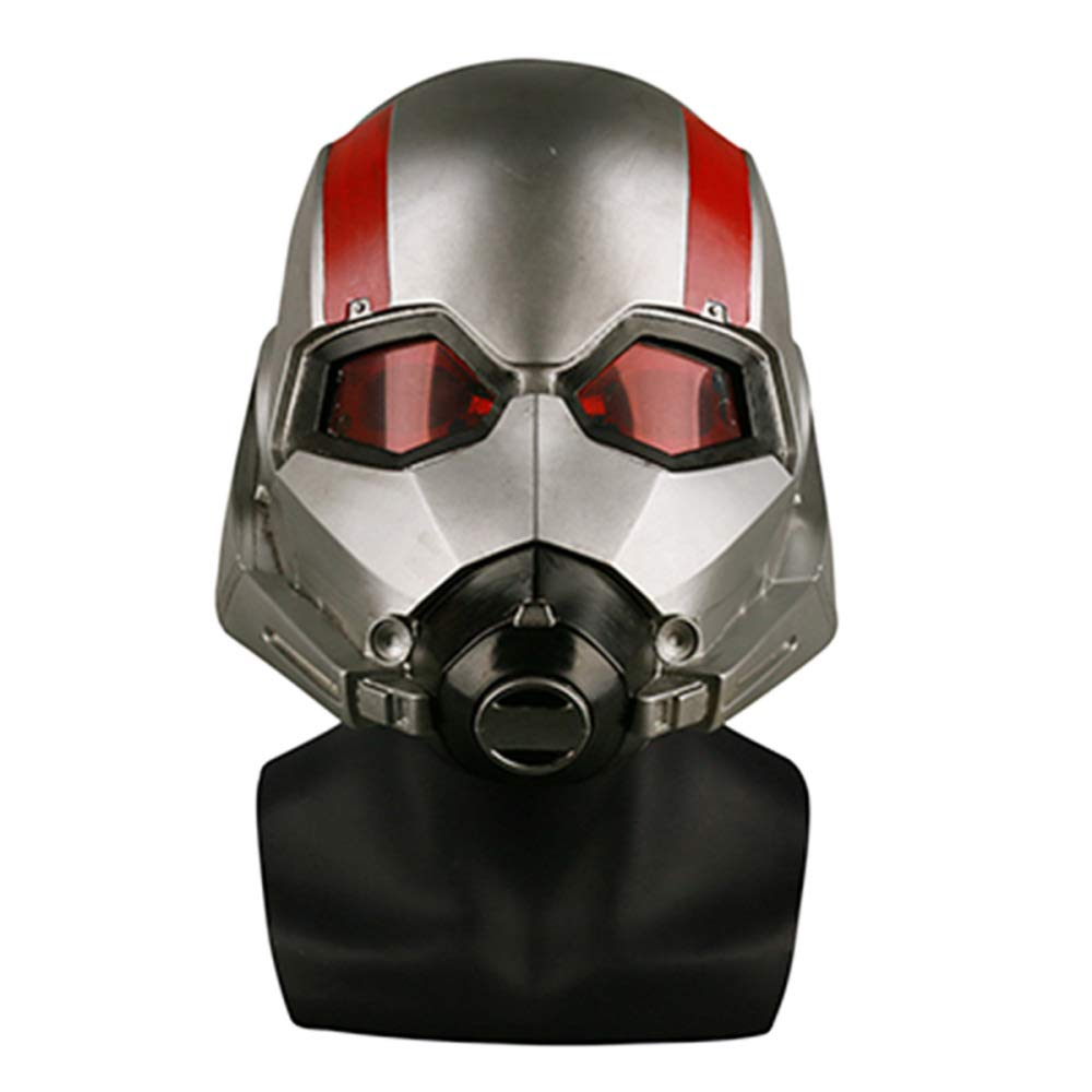 QQWE Ant-Man Maske Helm Marvel Held Cosplay Maske Film 1: 1 Klon Sammlung Helm Maske Halloween Thema Party Rollenspiel Requisiten,A-OneGröße