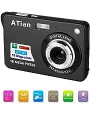 """ATian 18 Mega píxeles 2.7"""" 1280 × 720 HD Cámara Digital Recargable y cámara de Video Digital para Estudiantes/Adultos Mayores/niños"""