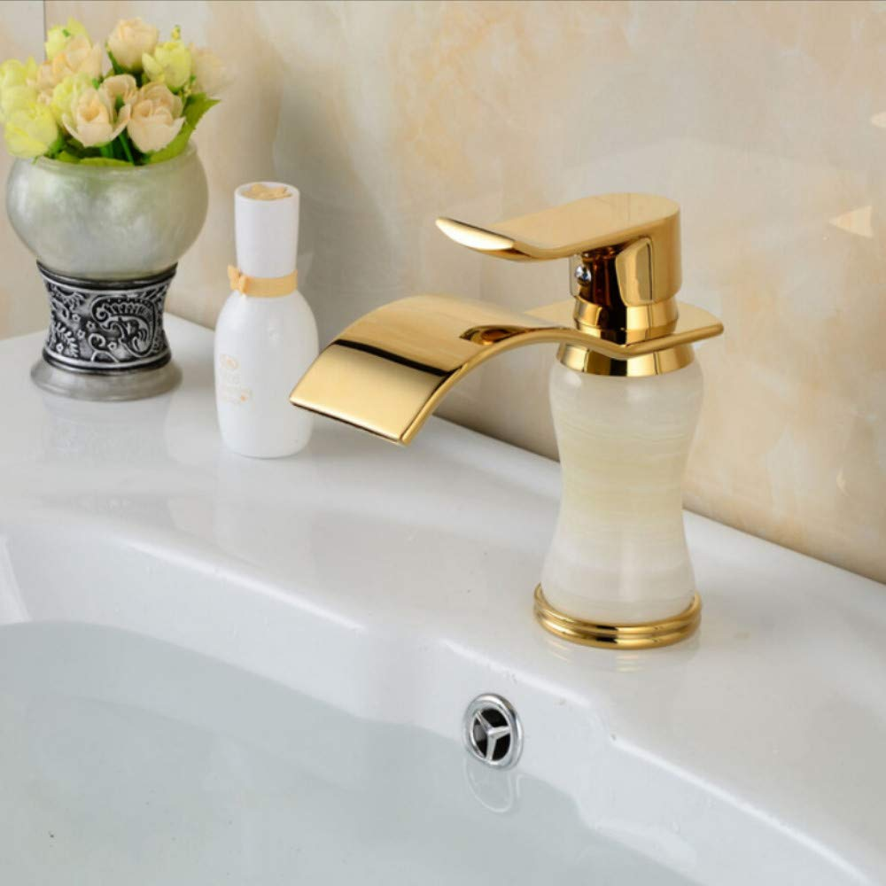 Lddpl Tap Waterfall Spout Bathroom Faucet Single Handle Hole Hole Hole Vanity Sink Mixer Tap Deck Mounted Brushed Nickel 10476b