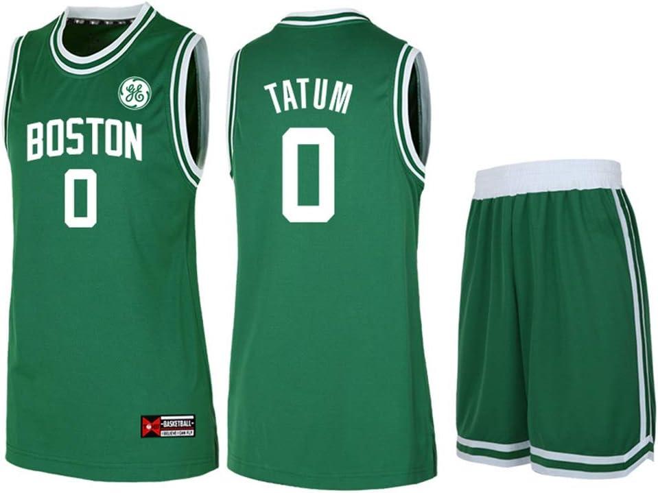 Hswu Dress Nba Boston Celtics Jayson Tatum 0 Men S Basketball Jersey Breathable Fabric Child Adult Sports Vest Top Shorts S 5xl Green M145 155cm Amazon Co Uk Kitchen Home