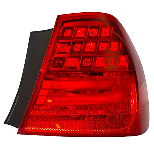 Passengers Taillight Tail Lamp Quarter Panel Mounted Lens Replacement for BMW 3 Series & M3 Sedan 63 21 7 289 430