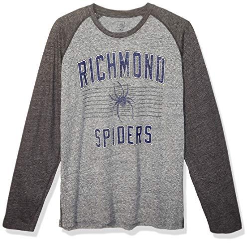 Richmond Baseball - J America Adult Unisex's AAA Baseball Tee, Graphite Heather, Large