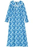 AmeriMark Women's Flannel Gown with Lace