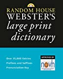 Random House Webster's Large Print Dictionary, RH Disney Staff, 0375722327