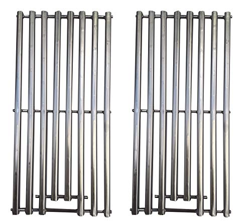 DcYourHome 2-pack BBQ Solid Stainless Steel Wire Cooking Grid, Cooking Grate Replacement for 2 burner Char-Broil 463645015, 466645015, 466645115 and Others. ()