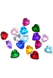 "Pro Jewelry 1 Pack of 12 "" Assorted Mix Heart Birthstone Crystal 5mm "" for Floating Charm Lockets 002"