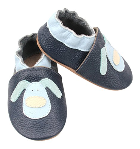 Emolly Baby Soft Sole Crib Pre Walker Leather Shoes (0-6 Months, Blue - Walker Boys Pre