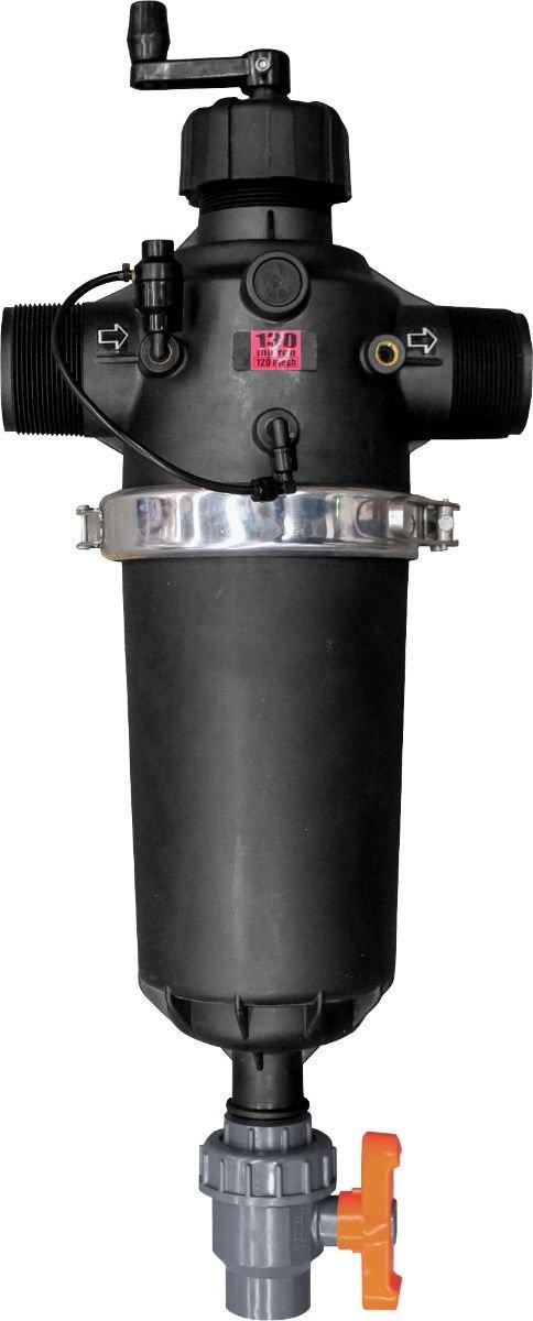 IrrigationKing RKTS340NSA Semi-Automatic T Screen Filter, 120 Mesh, 175 GPM, 3''