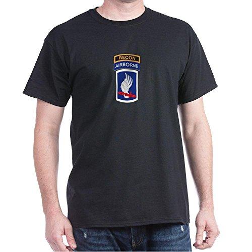 CafePress 173Rd ABN with Recon Tab Dark T Shirt 100% Cotton T-Shirt Black ()