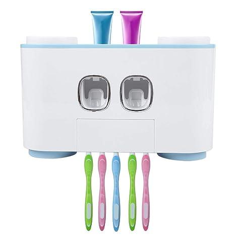 Eboxer Estante de Cepillo de Dientes y Dispensador Automático de Pasta de Dientes,con 2