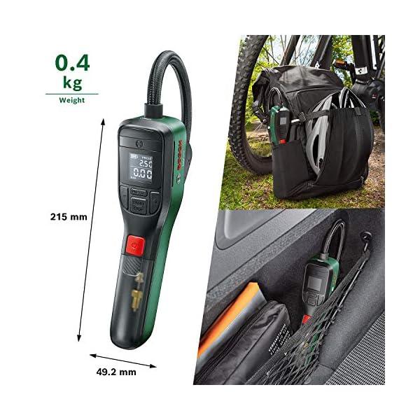 Bosh compresor de aire a batería EasyPump (batería de 3,0 Ah, 3,6 voltios, función de parada automática, 150 psi, 10,3…