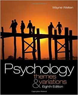 Psychology Themes And Variations 8th Edition By Wayne Weiten 2008 12 17 Amazon Com Books