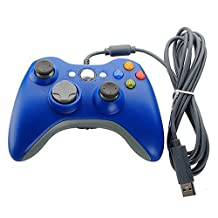 Meco Wired USB Game Pad Controller Joypad for Microsoft XBOX 360 PC Windows Blue