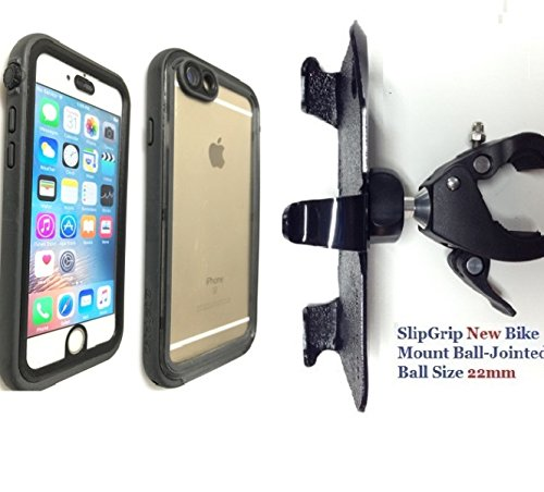 SlipGrip 3.8cm soporte de bicicleta para Apple Iphone 6s usando Catalizador Funda impermeable