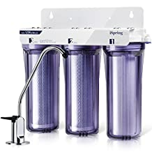 iSpring WCC31 3-Stage Under Sink High Capacity Tank-Less Drinking Water Filtration System