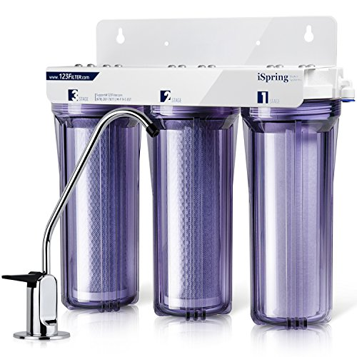 iSpring US31 3-Stage Under Sink High Capacity Tankless Drinking Water Filtration System – Includes Sediment 2X CTO Carbon Block Filters (Newest Version)
