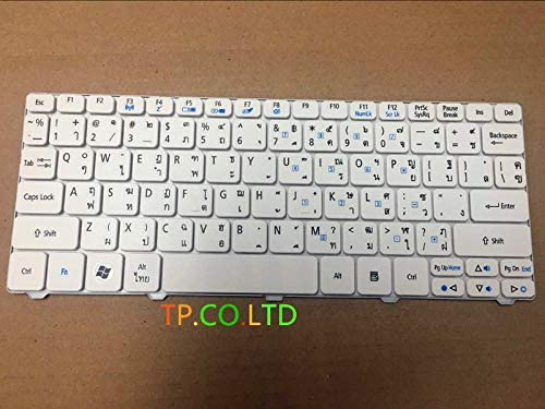 TI Keyboard for ACER Aspire One D255 D255E 522 D257 AOD257 D260 D270 AOD260 AO521 AO532 AO533 532 532H 521 533 NAV50 White Thai
