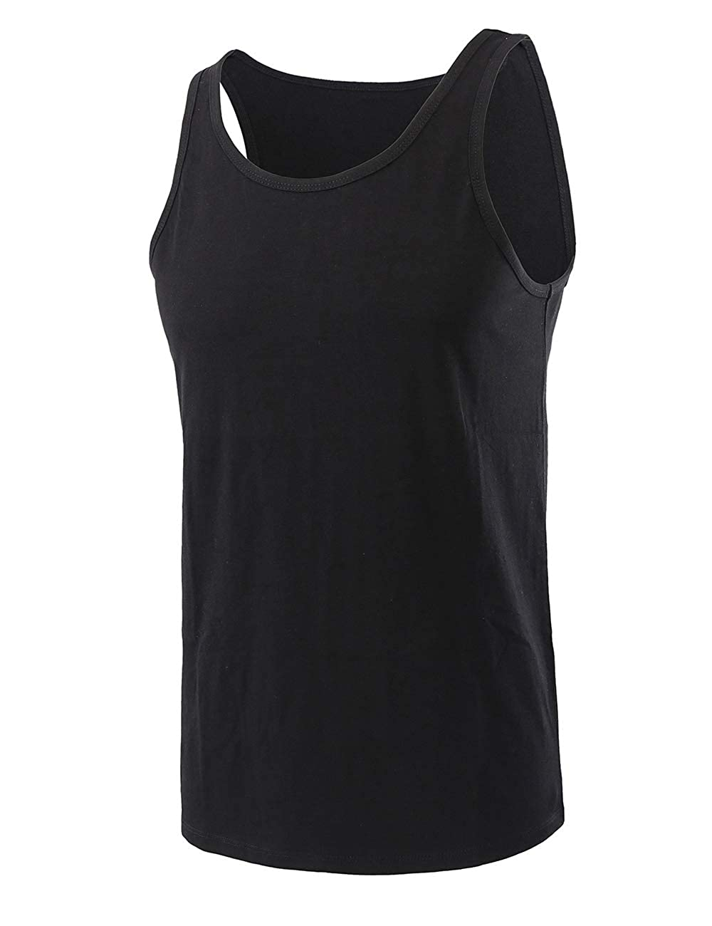 Mens Classic Breathe Quick Dry Cotton Sports Muscle Tank Tops Solid Sleeveless Outdoor Jersey Shirt Tops