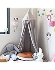 Princess Bed Canopy for Children, Dome Cotton Mosquito Net Kids Play Tent Reading Corner Room Decoration