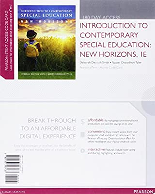 Introduction to Contemporary Special Education: New Horizons, Video-Enhanced Pearson eText -- Access Card