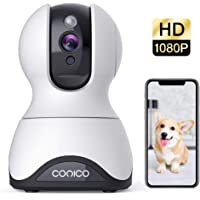 Pet Camera, Security Camera Conico 1080P HD Wireless Camera with Sound Motion Detection Two-Way Audio,Pan/Tilt/Zoom WiFi Surveillance Camera,Home Security Baby Cam with Night Vision Works with Alexa