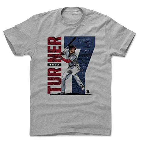(500 LEVEL Trea Turner Cotton Shirt Medium Heather Gray - Washington Baseball Men's Apparel - Trea Turner Stadium B)