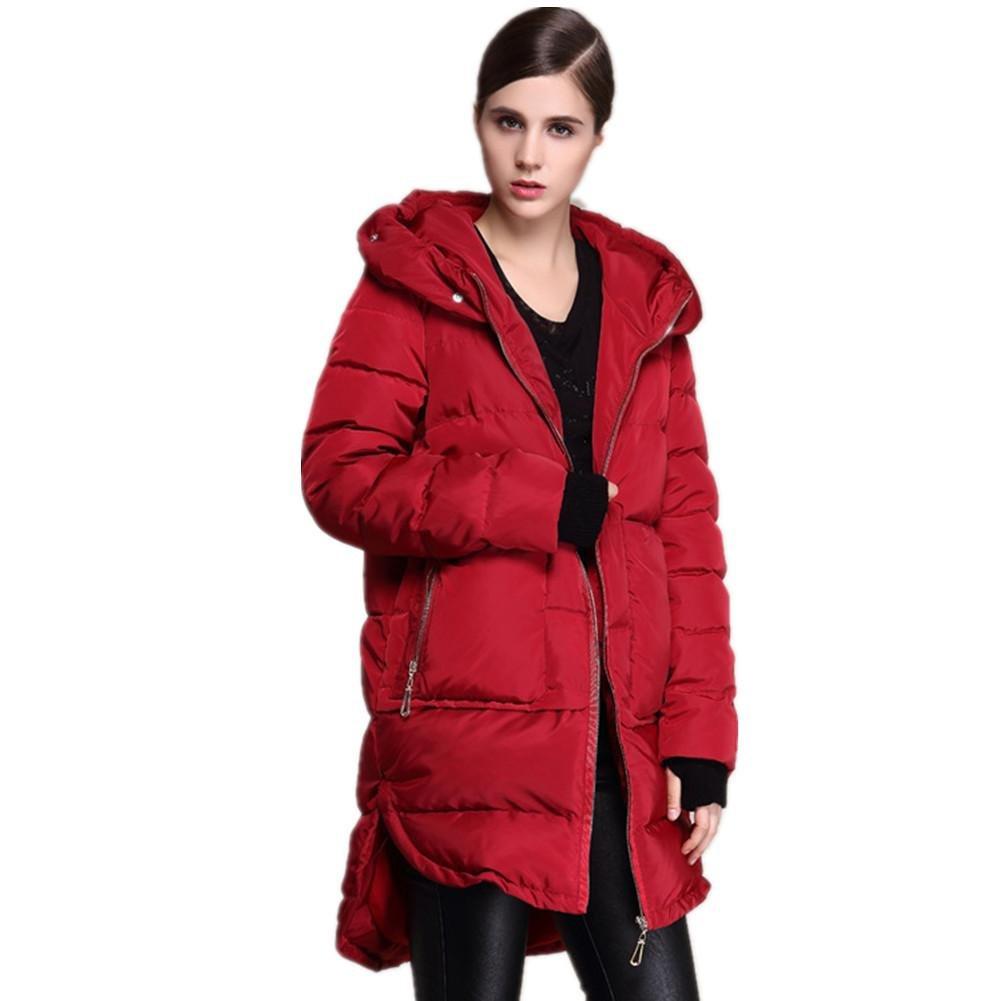 SHISHANG Lady abajo chaqueta engrosando pato blanco tipo suelto abajo de gran tamaño con una cantida...