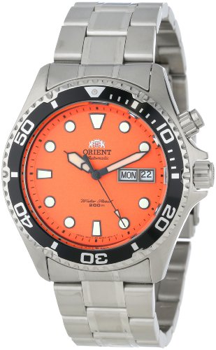 Orient Men's EM6500AM Ray Automatic Stainless Steel Orange Dial Watch by Orient