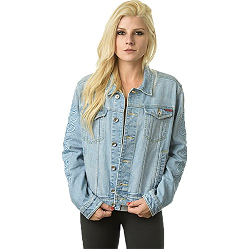 (Santa Cruz Women's Rosa Denim Jackets,Medium,Washed)