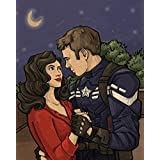 "Marvel's Captain America and Agent Peggy Carter Small 8x10"" Art Print"