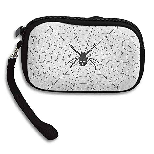 Spider Web Wallet Poisonous Bug Venom Thread Circular Cobweb Arachnid Cartoon Halloween Icon W 5.9