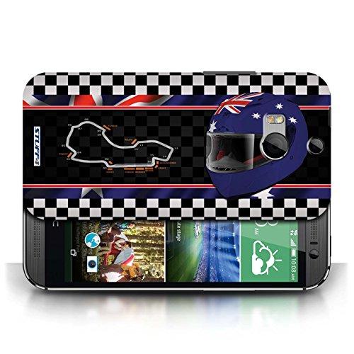 Etui / Coque pour HTC One/1 M8 / Australie/Melbourne conception / Collection de F1 Piste Drapeau