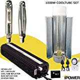 iPower 1000 Watt HPS MH Digital Dimmable Grow Light System Kits Cool Tube Reflector Set Add-on Wing
