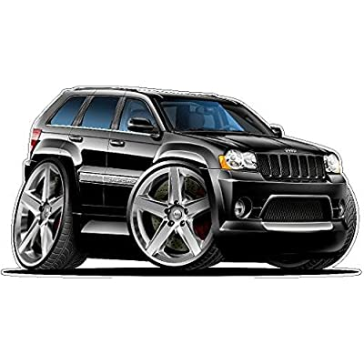 2007 Jeep Grand Cherokee SRT8 2ft Long Wall Decal Vintage 3D Car Movable Stickers Vinyl Wall Stickers for Kids Room: Baby