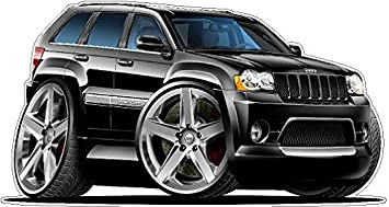 2007 Jeep Grand Cherokee SRT8 2ft Long WALL DECAL Vintage 3D Car Movable  Stickers Vinyl Wall