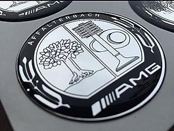 Amg Affalterbach 4 Stück Aufkleber Emblem Felgen Nabendeckel Radkappen 60mm