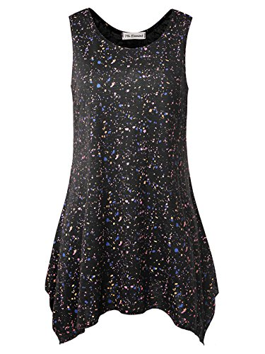 7th Element Plus Size Sleeveless Tunic Flare Flowy Tank Top