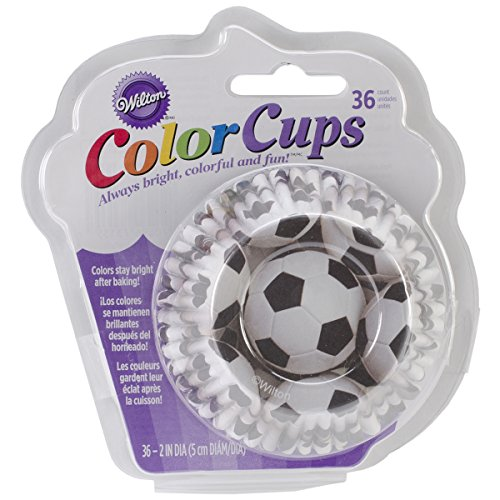 Wilton Standard Baking Cups, Soccer Color -