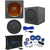Kicker 44CVX124 CVX 12 750w RMS Car Subwoofer+Sealed Sub Box+Amplifier+Wire Kit