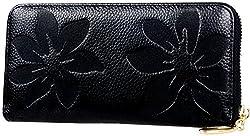 Valentines Day Gifts-Valentoria® Women's Soft Purse Case Long Organizer Wallet Zippered Arround Clutch Card Holder Money Clip Handbag (Red)