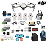 DJI Mavic Pro Platinum - Drone - Quadcopter - Fly More Combo - with 4 Batteries - 4K Professional Camera Gimbal - Bundle - Kit - with Must Have Accessories - with Backpack