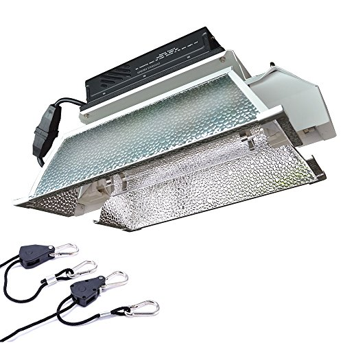 Hydroponic 1000 Watt Grow Light Fixture Kit With Digital Ballast,Improved Reflector (Reflective 2 Glass Fire 1)