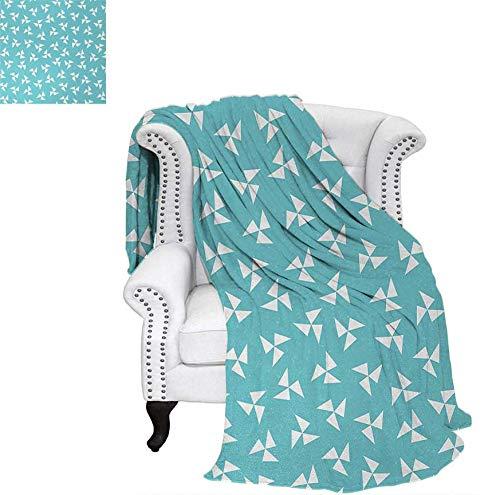 Velvet Plush Throw Blanket Hipster Geometrical Pattern with Pinwheel Triangles and Slightly Grunge Look Throw Blanket 80