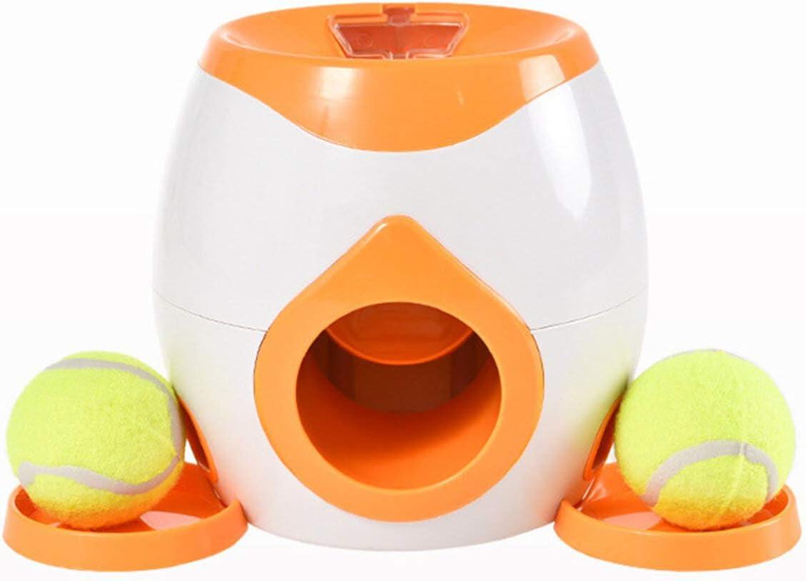 Pesca y caza de pelotas de tenis para mascotas, dispensador de alimentos para mascotas, herramienta de entrenamiento de recompensa (color: naranja)