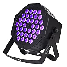 AMOTE DJ Black Lights UV LED Bar 36 LEDS with Remote Control Sound Activated Par Can Wash light for Stage Party Disco Pub Halloween Show (Purple Lighting)