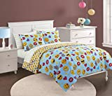 Emoji Bed in a Bag Queen Emoji Pals Bling Bed in A Bag Light Blue, Queen