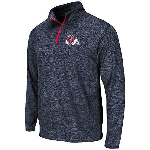 Mens NCAA Fresno State Bulldogs Action Pass Long Sleeve Quarter Zip Tee Shirt - M