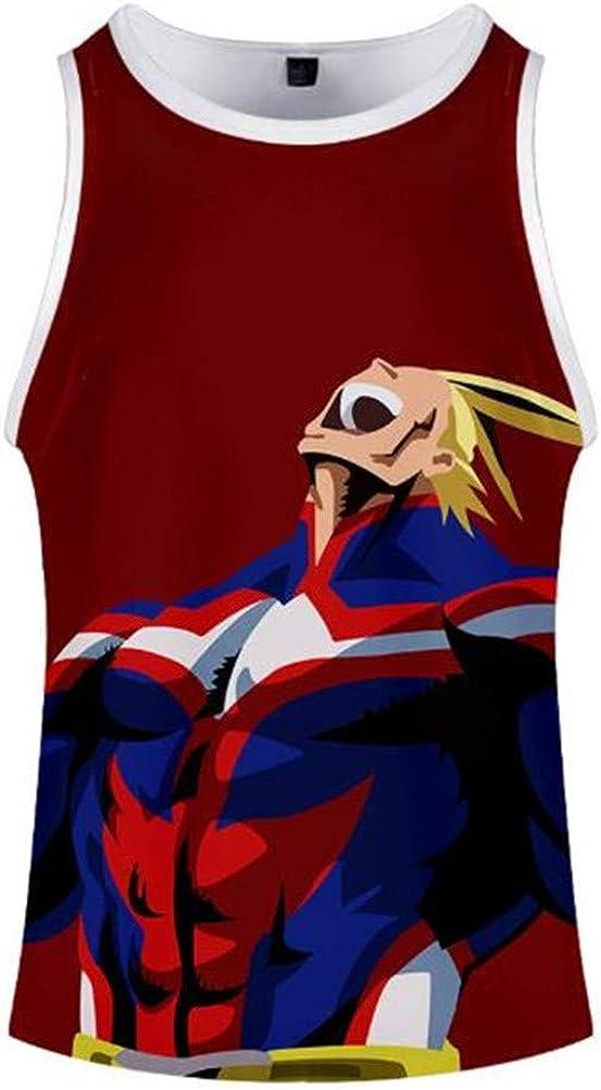Cosstars Anime My Hero Academia Tank Top Canottiera Uomo Donna Sportiva T-Shirt Vestaglia Senza Maniche Maglietta