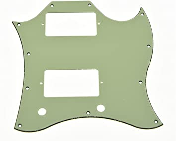 Guitar Full Face Pickguard For Gibson SG Standard Parts 3 Ply Tiger Stripe and Mint Green Pack of 2