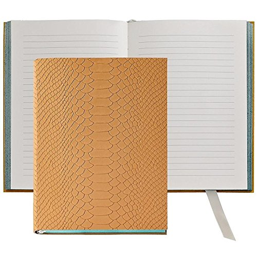 The MILLENNIAL JOURNAL British-Tan Embossed Python Leather by Graphic Image™ - 6x8 by Graphic Image